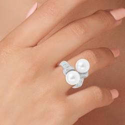 Anello di perle misura 54...