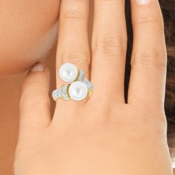Bague perles taille 56 BR01...