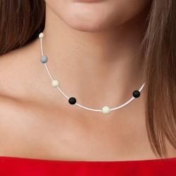 Collana BR01 decorata con...