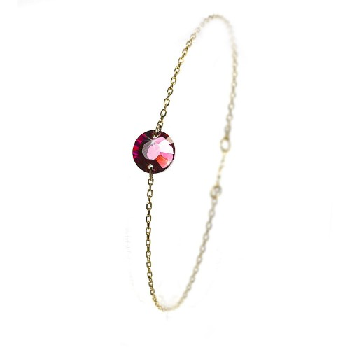 B354 brac rouge Bracelet Rond rouge Belle Paris plaqué or orné de SWAROVSKI® ELEMENTS