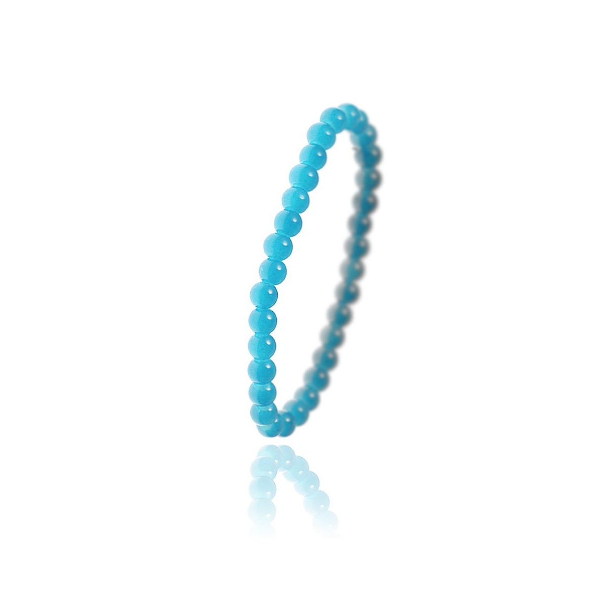 Bracelet orné de perle en verre bleu par So Charm