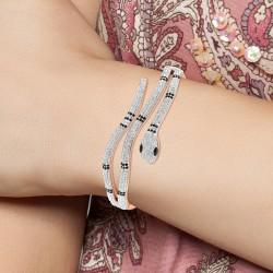 Bracelet serpent en acier...