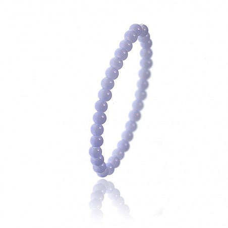 Bracelet orné de perles en verre violet par So Charm