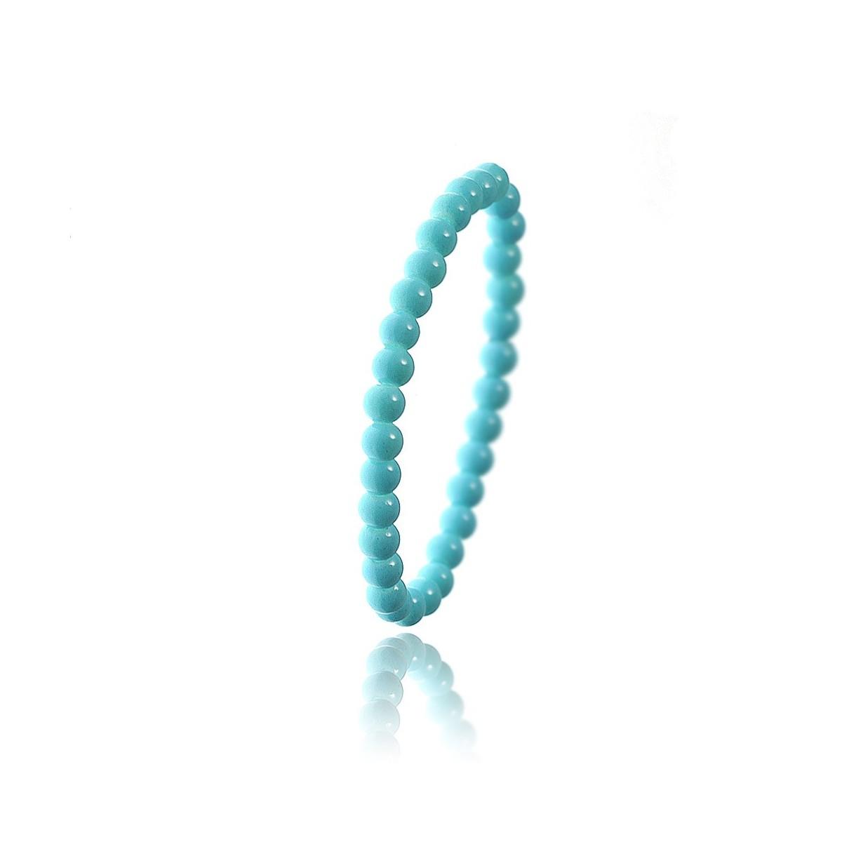 Bracelet orné de perles en verre bleu par So Charm