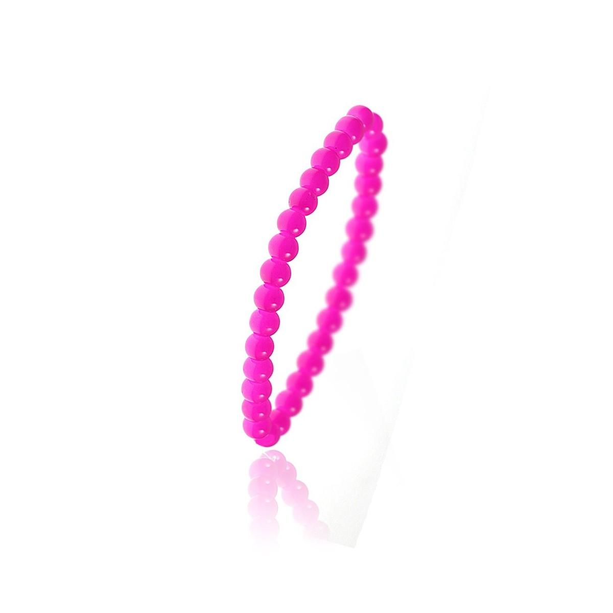 Bracelet orné de perles en verre rose par So Charm