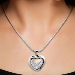 Heart necklace BR01 adorned...