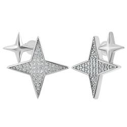 Earrings by BR01 adorned...