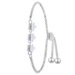 Bracelet argenté BR01 orné...