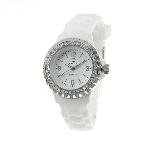 Montre blanche bracelet silicone
