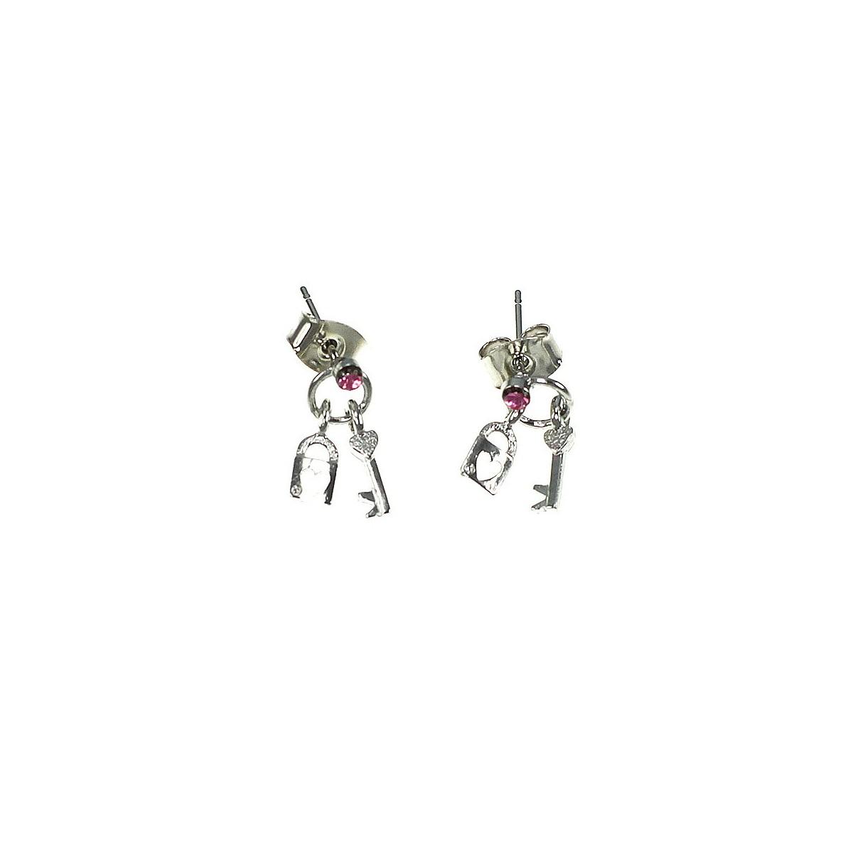Boucles d'oreilles cadenas