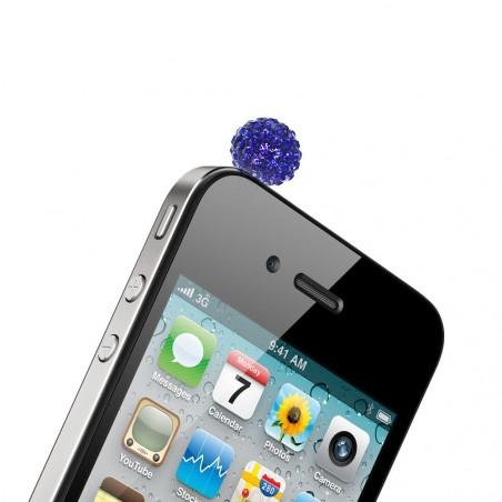 Bijou bleu de protection téléphone prise casque