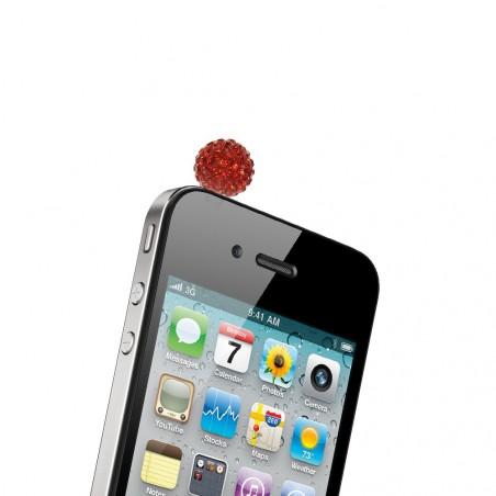 Bijou rouge de protection téléphone prise casque