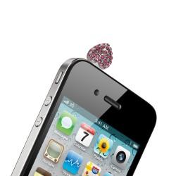 Bijou rose anti poussière pour téléphone