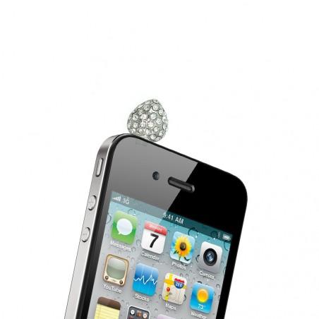 Bijou blanc anti poussière pour téléphone