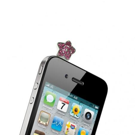 Bijou rose de téléphone pour prise casque