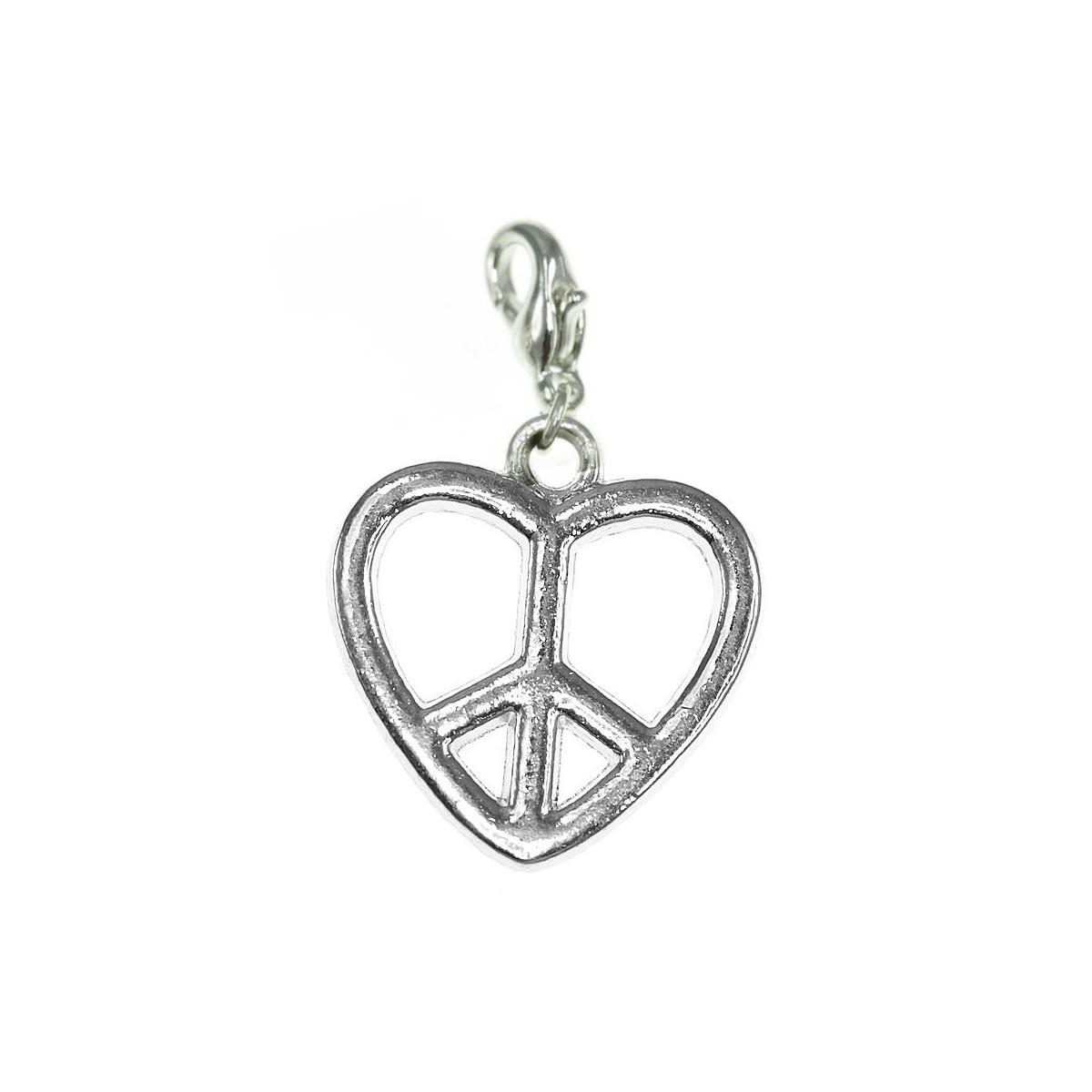 Breloque charm coeur peace So Charm
