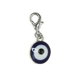 Breloque charm oeil bleu