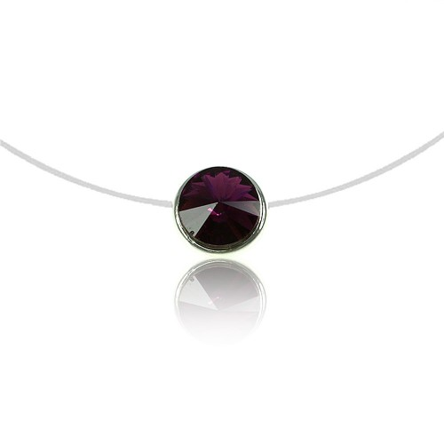 Collier Rond violet So Charm made with crystal from Swarovski