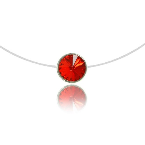 Collier Rond rouge So Charm made with crystal from Swarovski