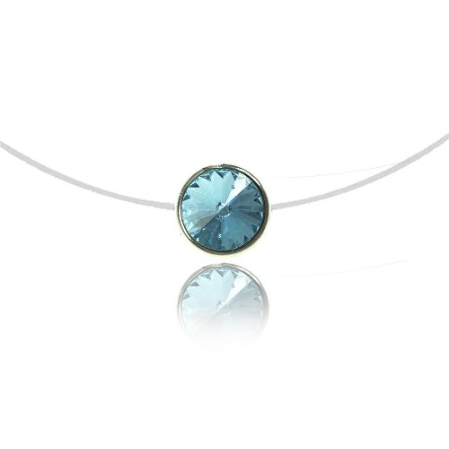 Collier Rond bleu clair So Charm made with Crystal from Swarovski