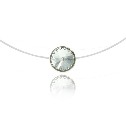 Collier Rond blanc So Charm made with crystal from Swarovski
