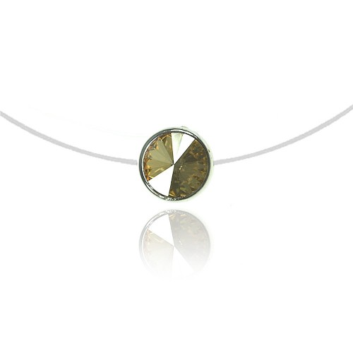Collier Rond jaune So Charm made with crystal from Swarovski