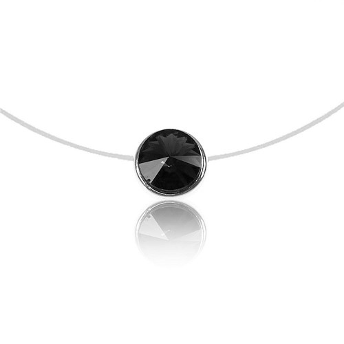 Collier Rond noir So Charm made with crystal from Swarovski