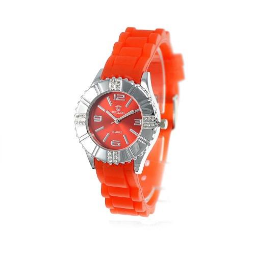 Montre rouge bracelet silicone