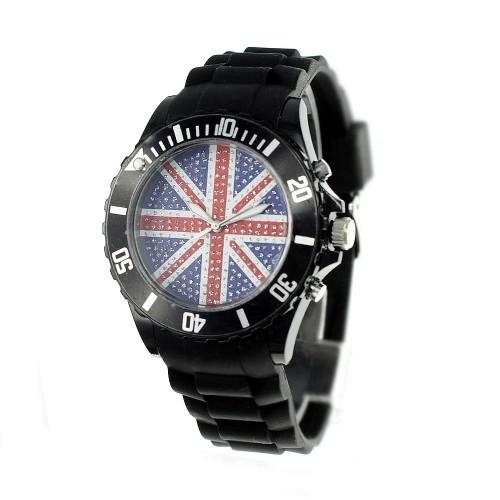 Montre drapeau anglais bracelet silicone