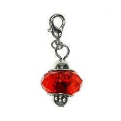 Charm fantaisie cristal rouge