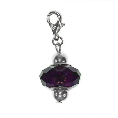 Charm fantaisie cristal violet