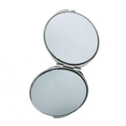 Miroir de poche décoré façon cuir