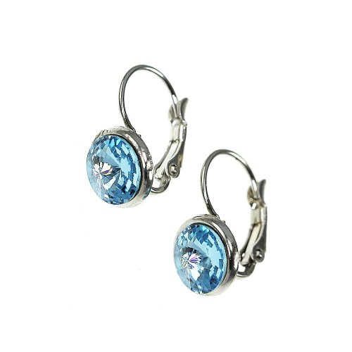Boucles d'oreilles So Charm made with crystal from Swarovski bleu clair