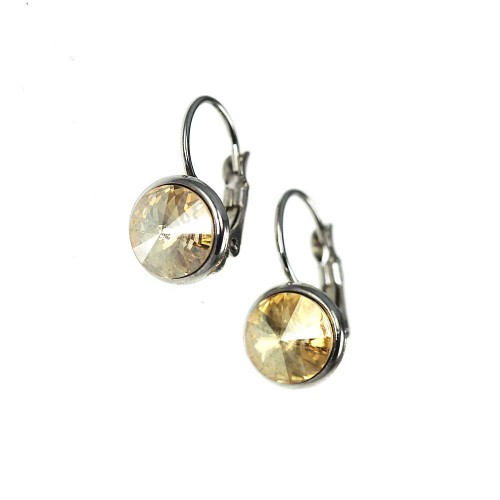 Boucles d'oreilles So Charm made with crystal jaune from Swarovski