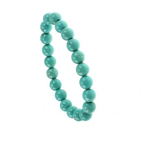 Bracelet perles de verre bleu