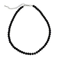 Collier noir orné de perles...