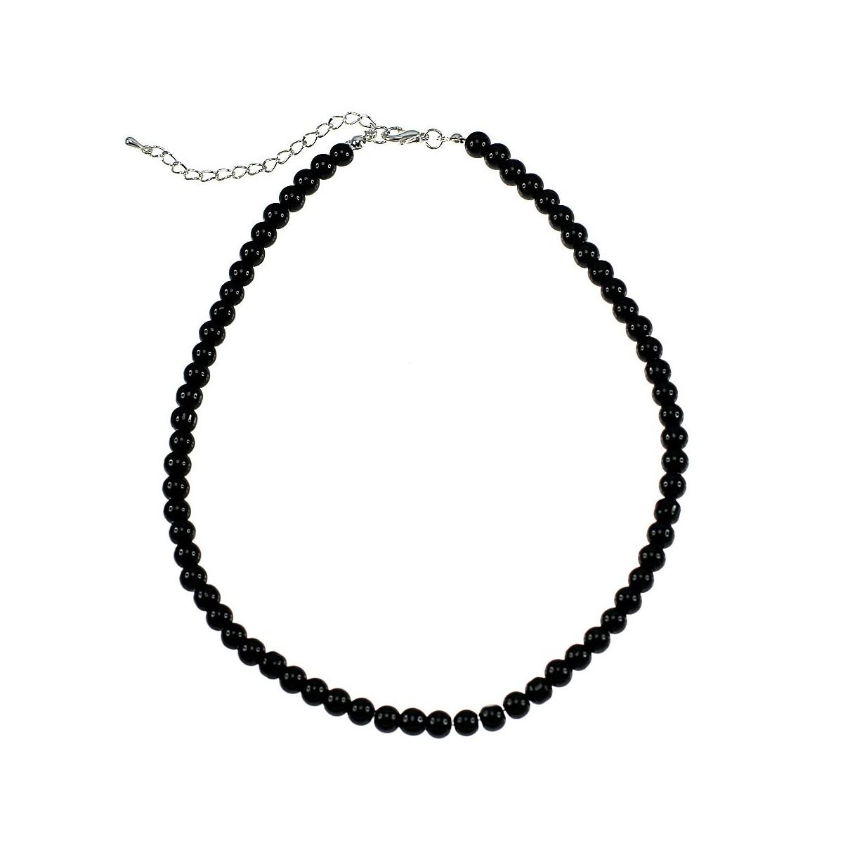 Collier noir orné de perles de verre par So Charm