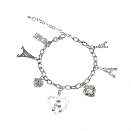 Bracelet Tour Eiffel et coeur