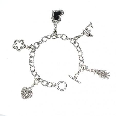 Bracelet animaux et coeurs