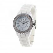 Montre femme So Charm ornée de SWAROVSKI ELEMENTS bracelet silicone blanc