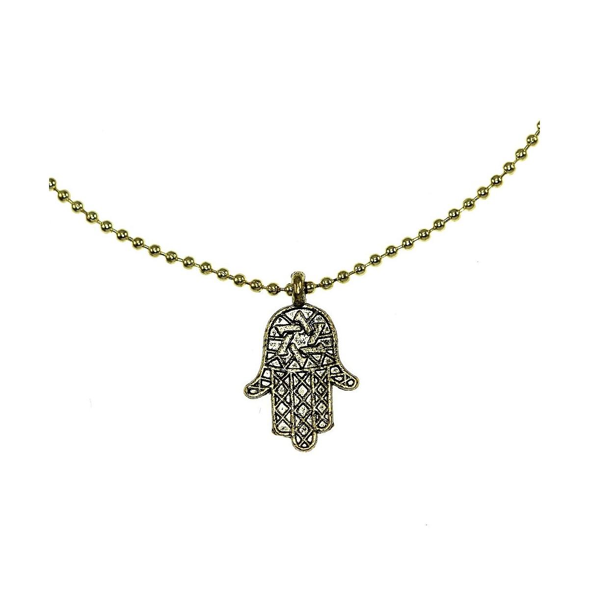 Bracelet main de Fatima doré (Khamsa)