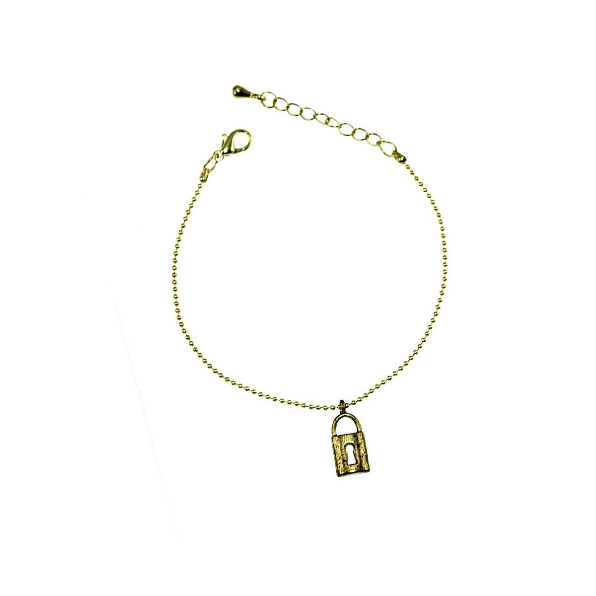 Bracelet cadenas doré