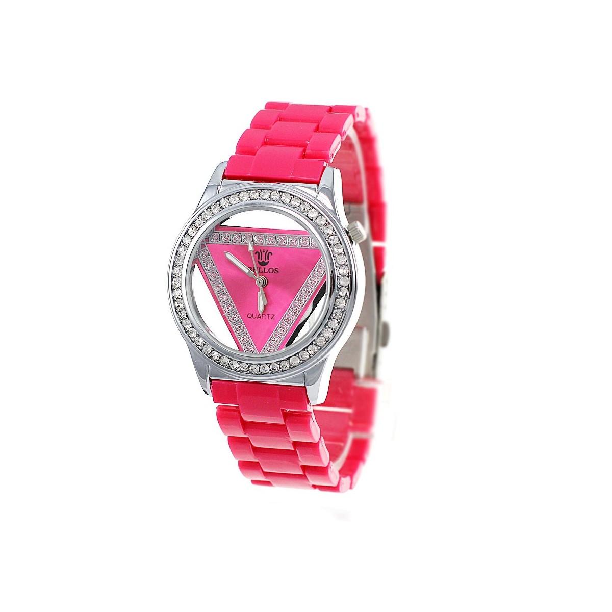 Montre femme bracelet framboise