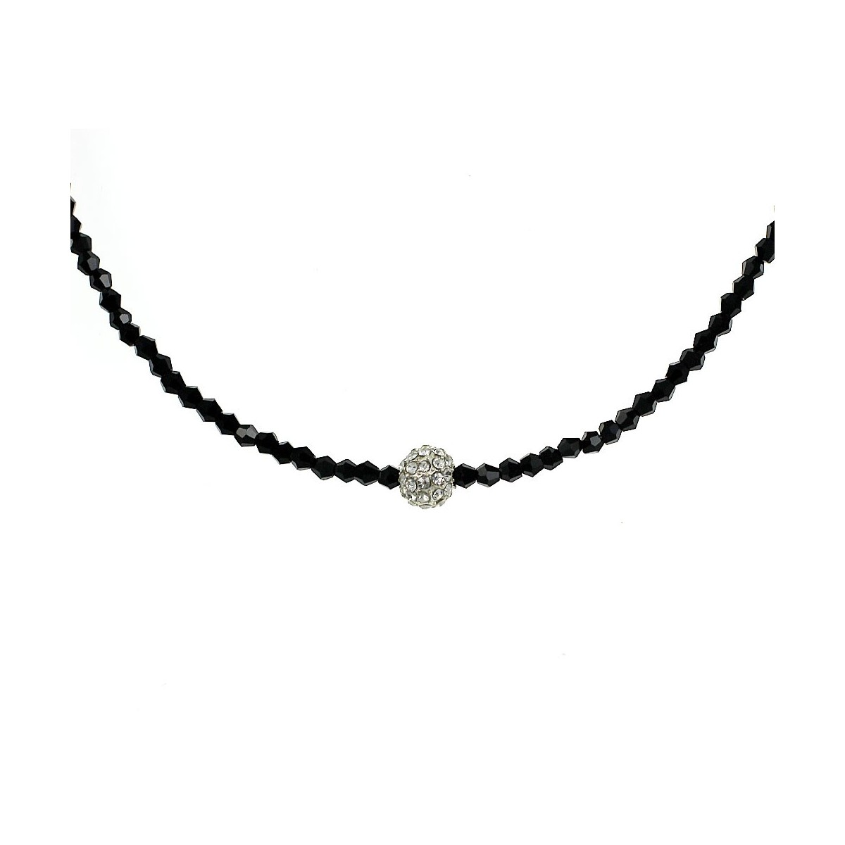 Collier perle de strass