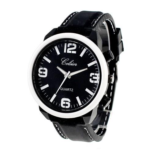 Montre bracelet silicone noir