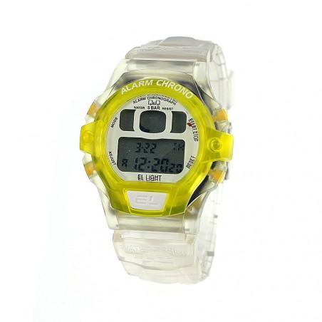 Montre enfant chrono bracelet nylon jaune