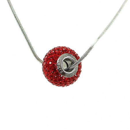 Collier argenté So Charm orné de cristaux rouge made with crystal from Swarovski