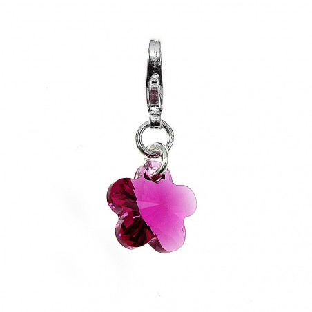 Charm fleur made with Crystal from Swarovski rose par So Charm