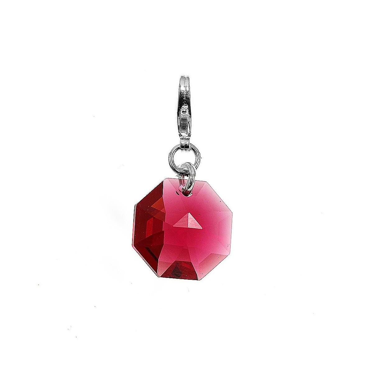Charm orné d'un cristal rose SWAROVSKI® ELEMENTS par So Charm