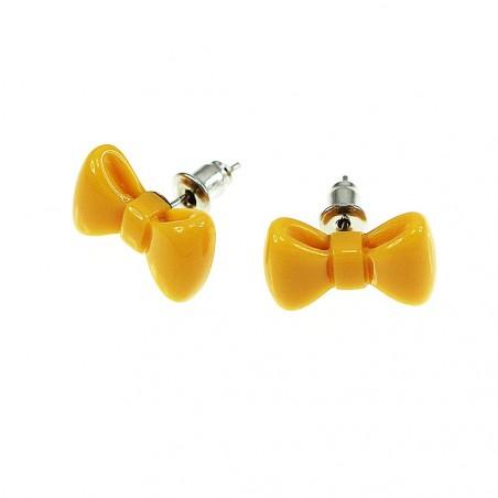 Boucles d'oreilles noeud papillon orange